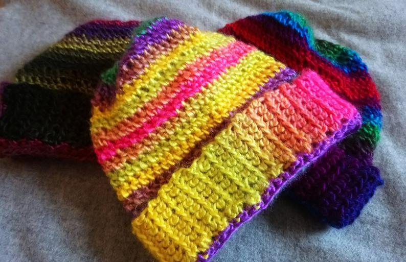 Handmade Multicolored Crochet Beanie
