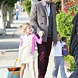 Ben Affleck Hangs Out in LA With His Mom and Daughters