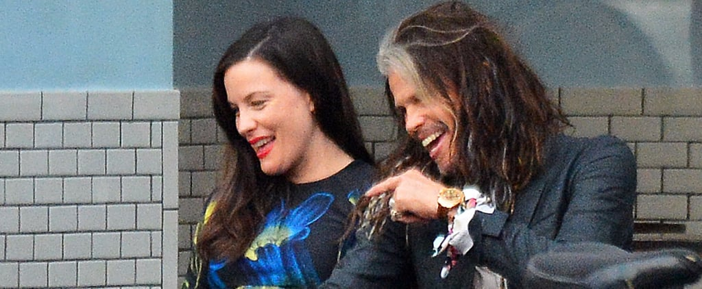 Steven Tyler Sweetly Rubs Daughter Liv's Growing Baby Bump in NYC