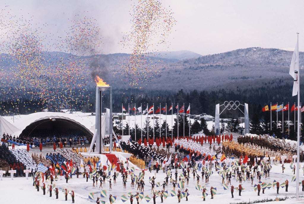 And the 1980 Games in Lake Placid brought out big confetti.
