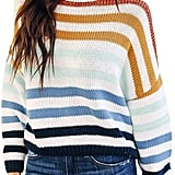 Zesica Striped Pullover Sweater