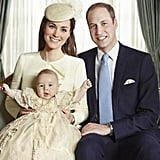 Kate Middleton and Prince William brought Prince George to his christening in London.