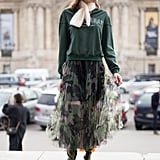 If you think camo and tulle don't go together, just look at Taiana Sperotto's skirt. It's both edgy and feminine.