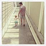 Hilary Duff caught Mike and Luca Comrie in a sweet moment on Father's Day. Source: Twitter user HilaryDuff