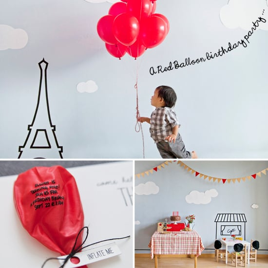 Elijah's Parisian, Red Balloon First Birthday Party