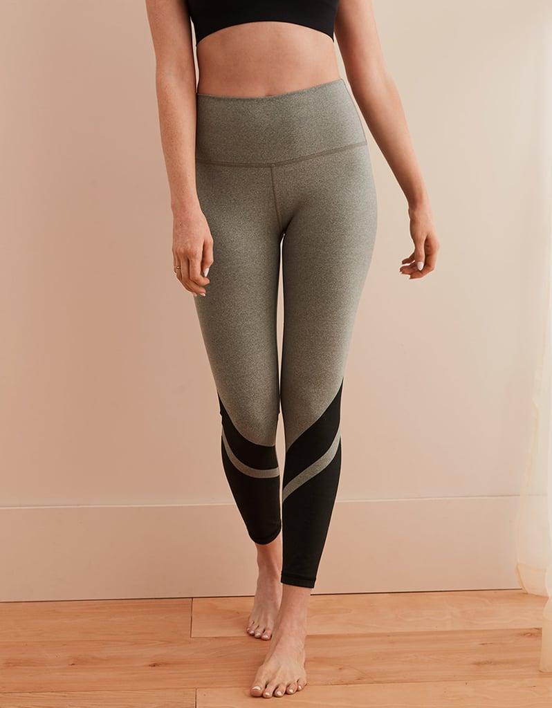 cb81d628eb436 Aerie Move Color Block 7/8 Legging   Selena Gomez Black and White ...