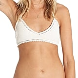 Dare to wear this white Billabong Hippie Hooray Tali Crochet Bikini ($65).