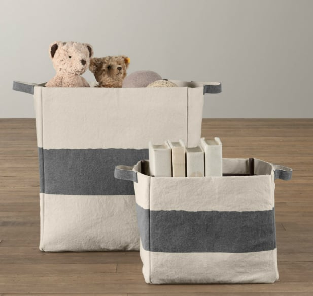 RH Baby U0026 Child Vintage Canvas Storage ...