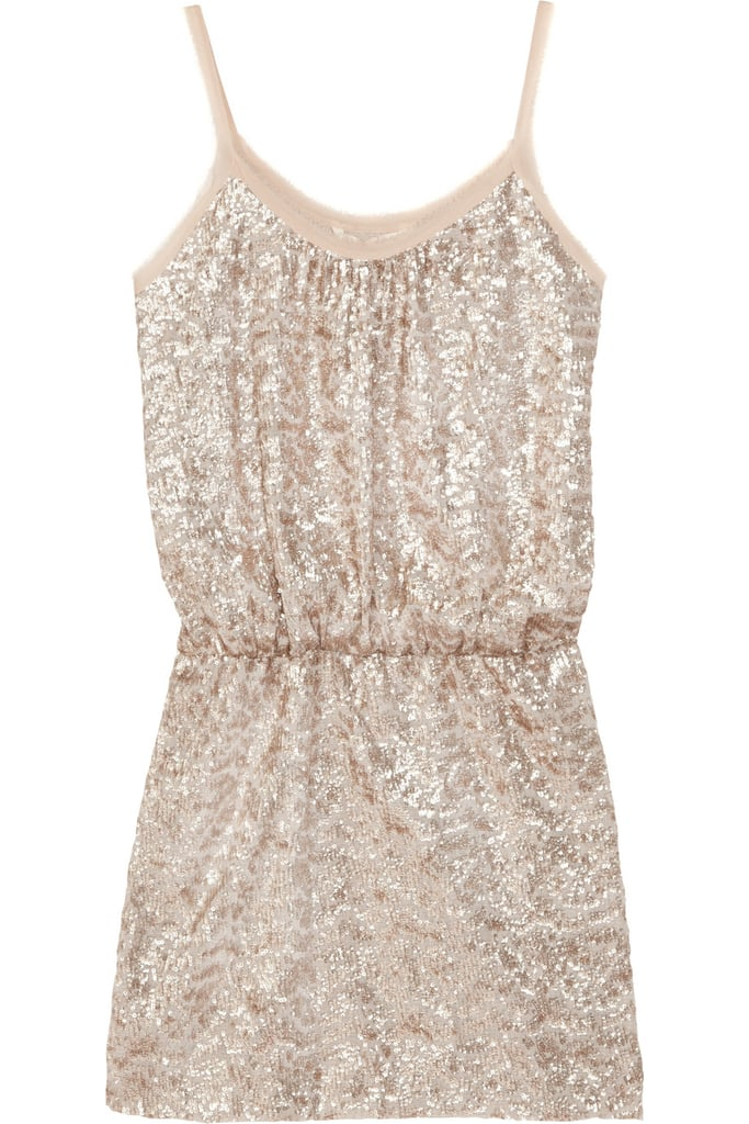Go short and sparkly for your rehearsal dinner with this sexy sequined tank dress.  Rebecca Taylor Sequined Mini Dress ($395)