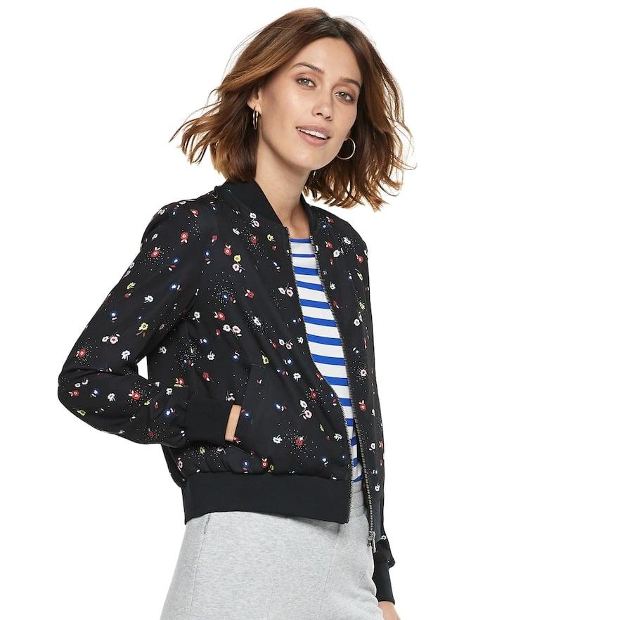 65827715d POPSUGAR at Kohl's Collection Floral Bomber Jacket | Best Outerwear ...