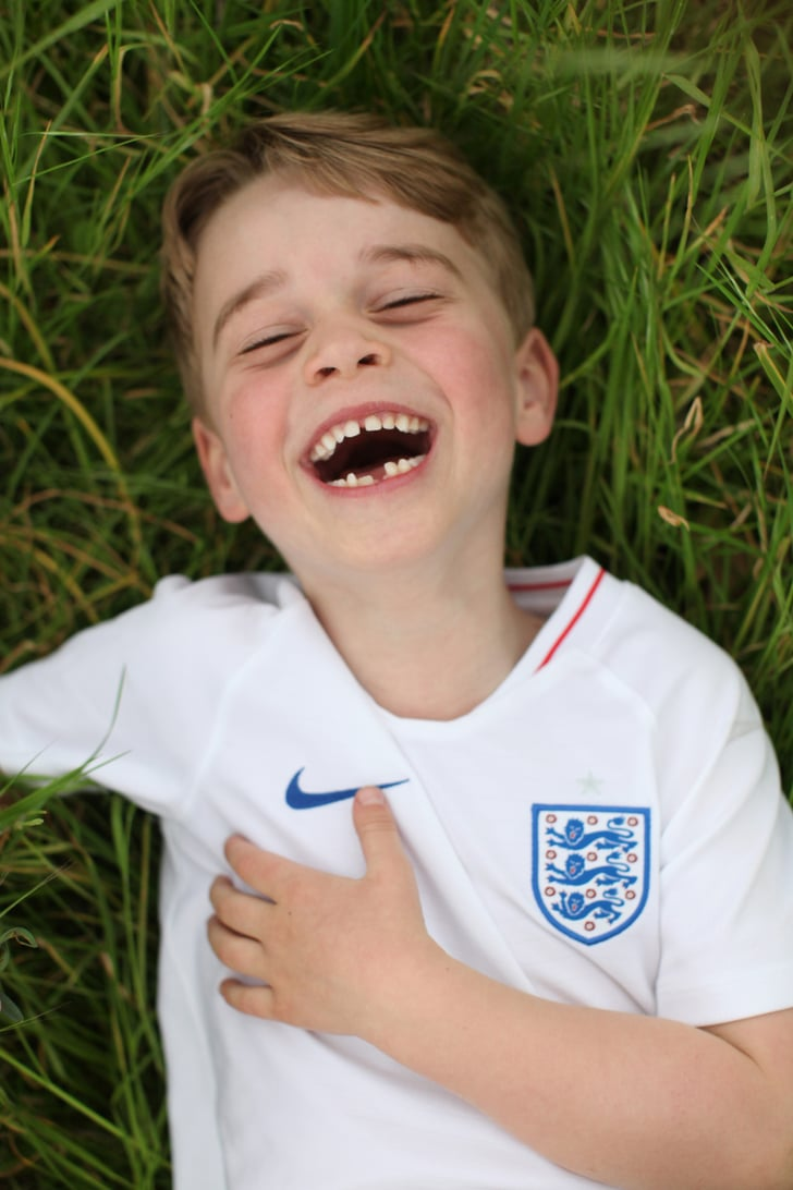 When He Sported a Soccer Jersey For His 6th Birthday Portrait