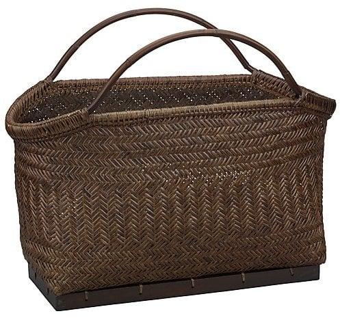 Crate & Barrel Pramana Magazine Basket ($80)