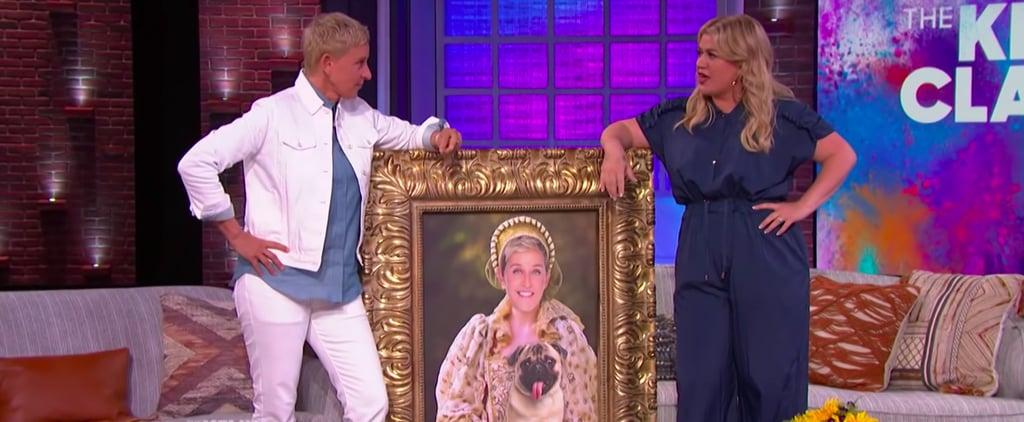 Ellen DeGeneres Surprises Kelly Clarkson on Her TV Talk Show
