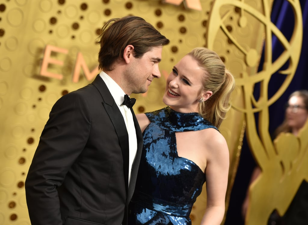 Jason Ralph and Rachel Brosnahan at the 2019 Emmys
