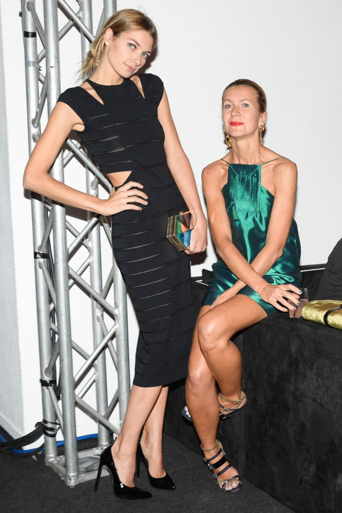 In Milan, Jessica Hart and Natalie Joos mingled with the stylish guests at the amfAR gala.