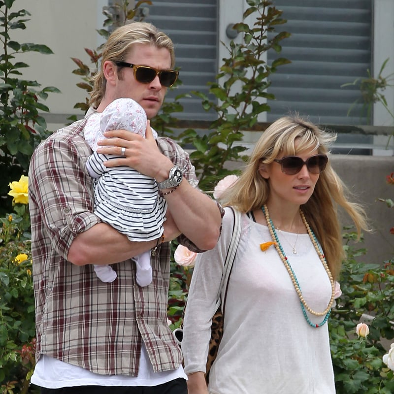 Chris Hemsworth Carries Baby India During a Weekend Stroll and Gets Exciting Movie News
