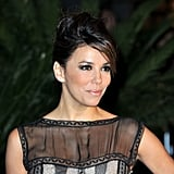 Eva Longoria wore her hair up for the opening night dinner of the Cannes Film Festival.