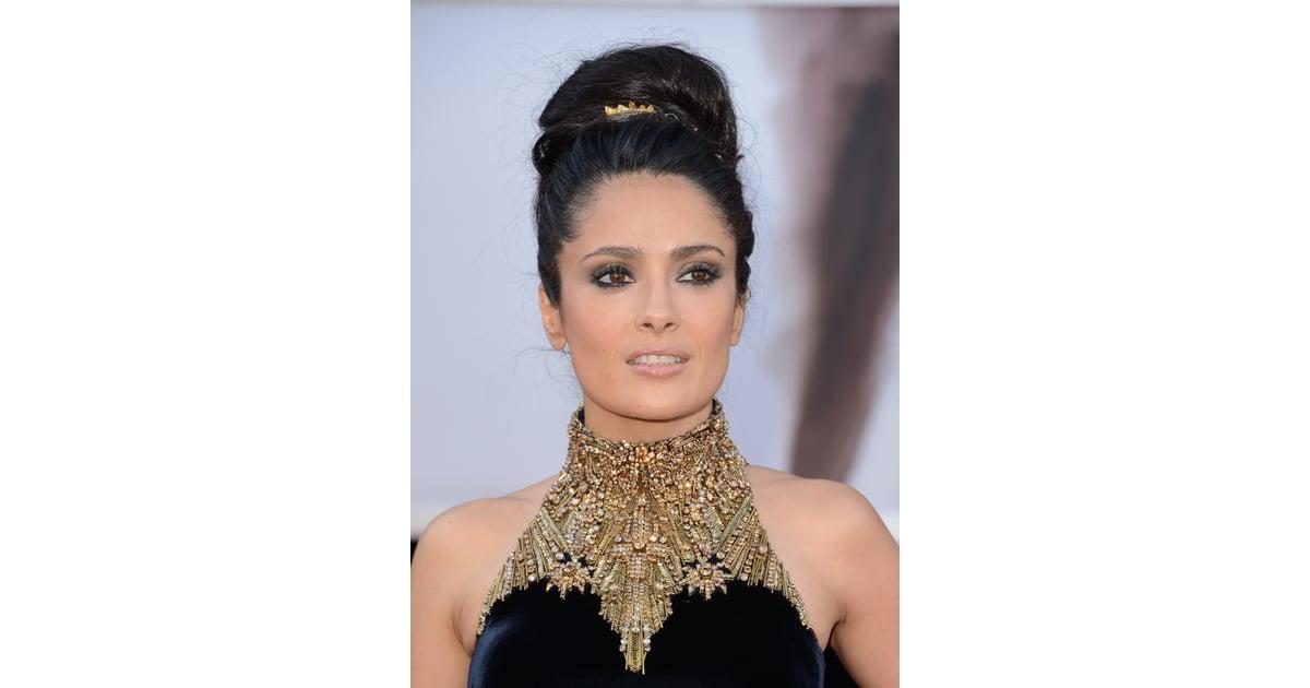 salma hayek 2013 worst oscars hair and beauty