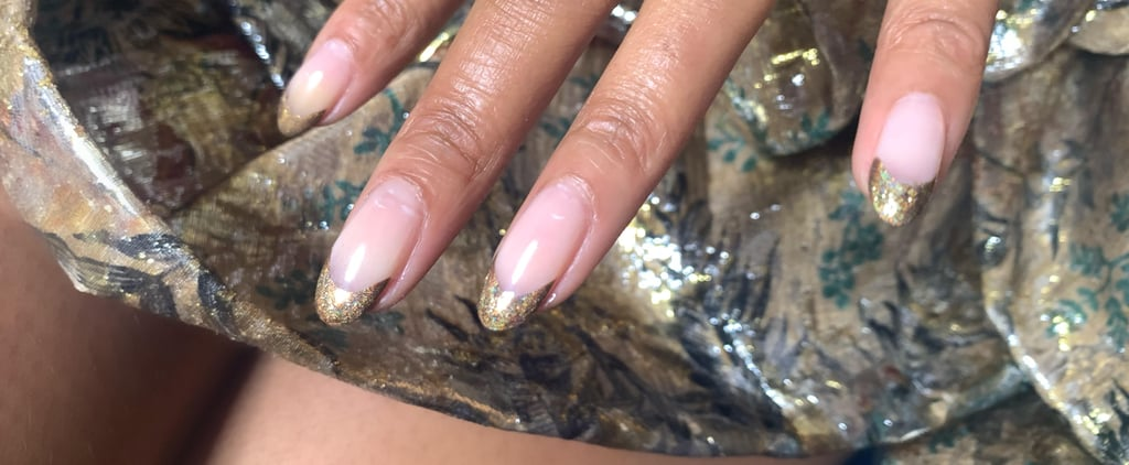 Jourdan Dunn's Gold French Manicure at the BFAs 2019