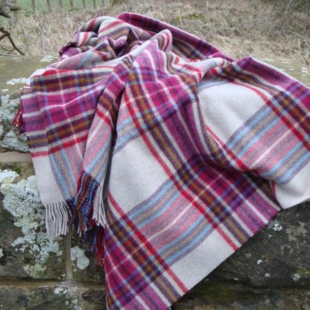Solway Blankets Buckden Ammolite Merino Lambswool Throw