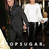 Casper Smart held onto Jennifer Lopez's hand in NYC.