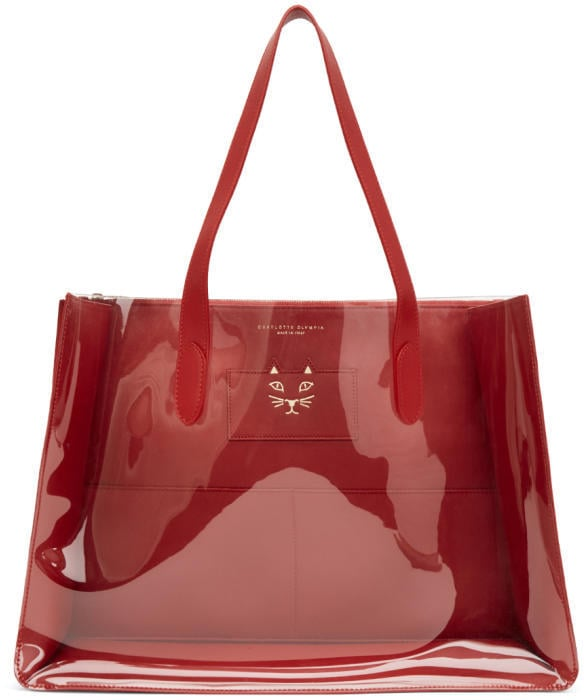 c22fd45d07 Charlotte Olympia Red Presley Tote