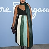 Paloma Elsesser at the Salvatore Ferragamo Milan Fashion Week Show