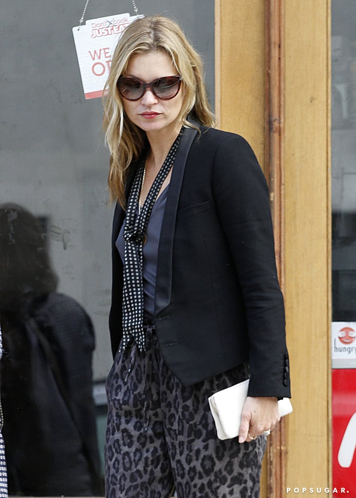 Kate Moss grabbed lunch in London.