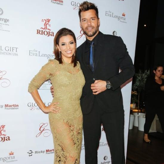 Eva Longoria and Ricky Martin at the 2015 Global Gift Dinner