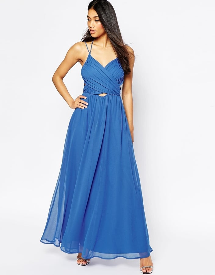ASOS halter Neck maxi dress with cut out side (£50)