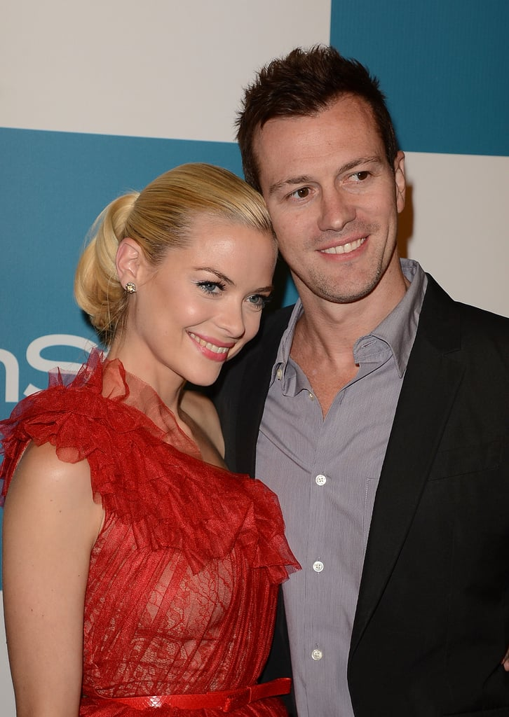 Jaime King and Kyle Newman were looking loved up.