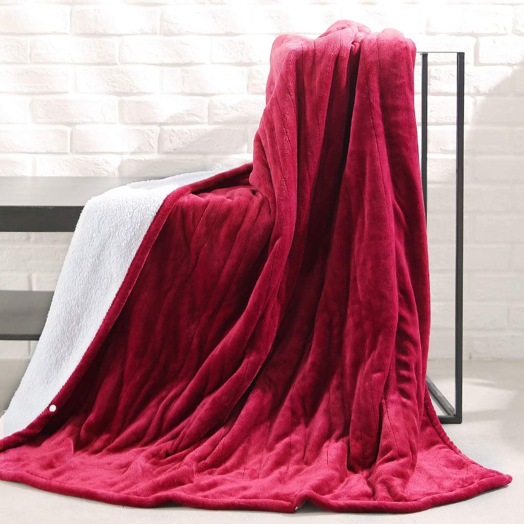 MaxKare Electric Heated Throw Sherpa Blanket