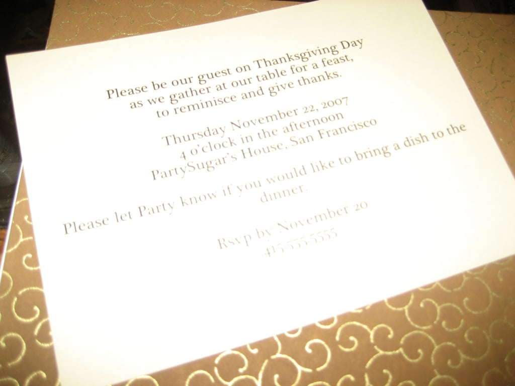 Come Party With Me: Classic Thanksgiving — Invites