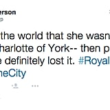 Princess Charlotte Is Already Being Compared to the Sex and the City Character