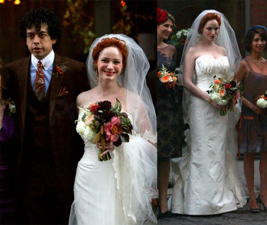 Photos of Christina Hendricks And Geoffrey Arend's Celebrity Wedding in NYC