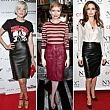 See all the celebs loving leather pencil skirts right now and why you should too.