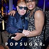 Pictured: Elton John and Mya Taylor