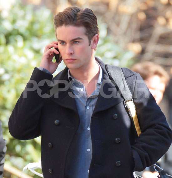 Photos of Chace Crawford and Leighton Meester Filming Gossip Girl