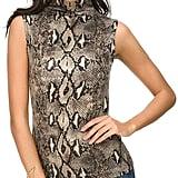 Wosalba Women Sleeveless Mock Turtle Neck Knit Pullover