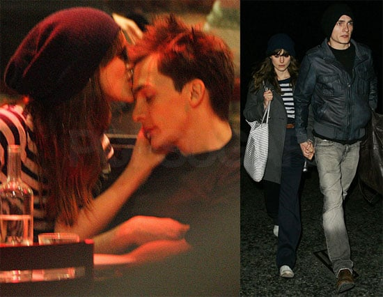 Photos of Keira Knightley Kissing Her Boyfriend Rupert Friend in London at Barrafina