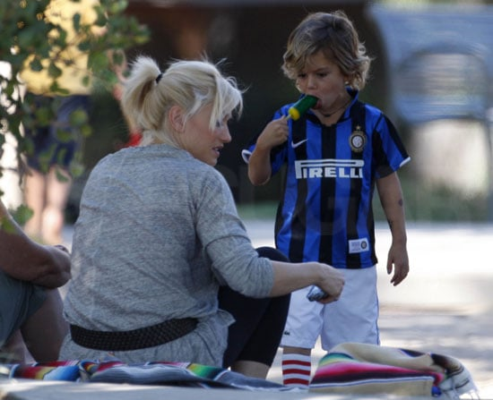 Pictures of Gwen Stefani and Gavin Rossdale at the Park in LA With Kingston and Zuma
