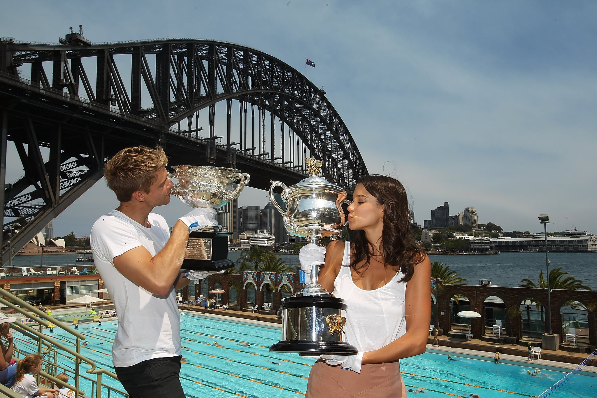 Luke Mitchell and Rhiannon Fish
