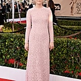 At the 2016 Screen Actors Guild Awards wearing a stunning Michael Kors Collection dress with Forevermark diamonds.
