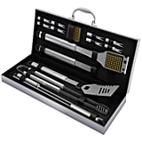 BBQ Grill Tool Set 16 Piece Stainless Steel Barbecue Grilling Accessories Kit