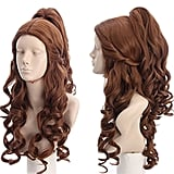 Curly Brown Halloween Cosplay Wig With Ponytail