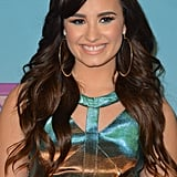 Demi Lovato wore a hologram dress.
