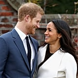 """Meghan on their simple relationship status: """"We're two people who are really happy and in love.""""  Meghan on staying true to herself despite the high-profile romance: """"We were very quietly dating for about six months before it became news, and I was working during that whole time, and the only thing that changed was people's perception. Nothing about me changed. I'm still the same person that I am, and I've never defined myself by my relationship.""""  Meghan on dealing with media scrutiny: """"It has its challenges, and it comes in waves — some days it can feel more challenging than others. And right out of the gate it was surprising the way things changed. But I still have this support system all around me, and, of course, my boyfriend's support. I don't read any press. I haven't even read press for Suits. The people who are close to me anchor me in knowing who I am. The rest is noise."""""""