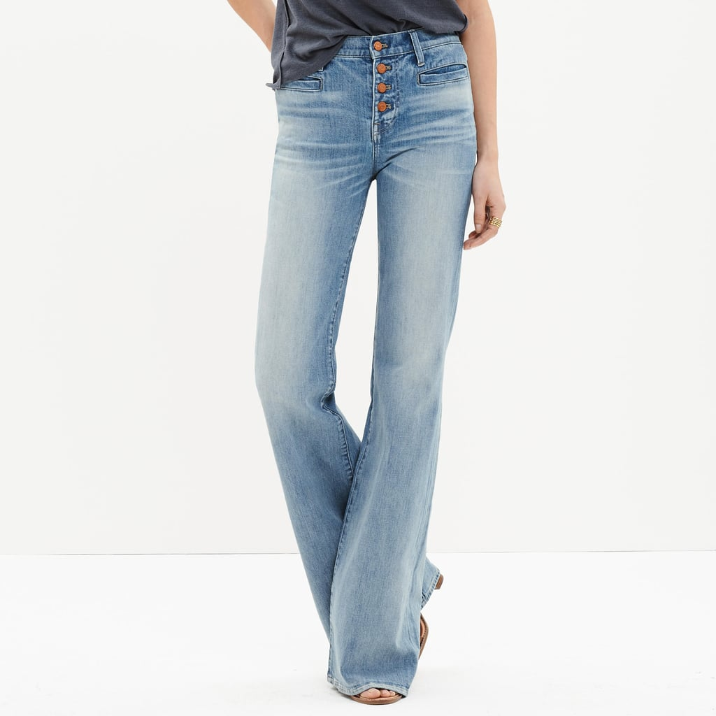 Madewell Flea Market Flares: Button-Front Edition ($135)