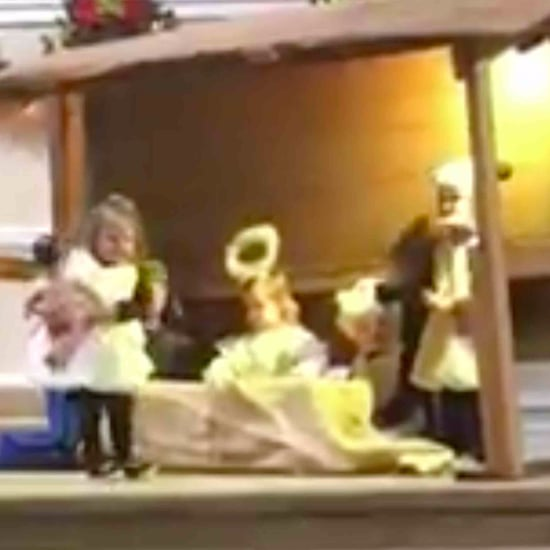 Girl Steals Baby Jesus From the Manger in Christmas Play