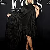 Bebe Rexha at the Harper's Bazaar ICONS Party During New York Fashion Week